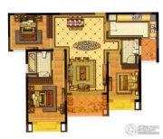 雅居乐滨江国际3室2厅2卫136平方米户型图