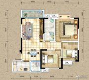 凤琴岚湾3室2厅1卫97平方米户型图