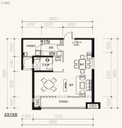 保利天禧3室2厅2卫137平方米户型图