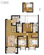 招商学府18723室2厅1卫100平方米户型图
