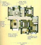 和昌・运河尚郡3室2厅1卫139平方米户型图