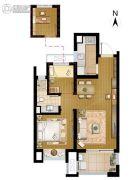 招商学府18722室2厅1卫66平方米户型图