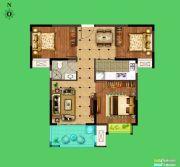 荣盛花语城3室2厅1卫90平方米户型图
