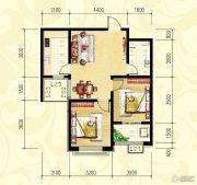 众和凤凰城2室2厅1卫76平方米户型图