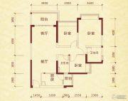成都恒大金碧天下3室2厅2卫108平方米户型图