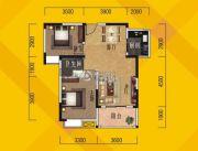 奥林花园2室1厅1卫80平方米户型图