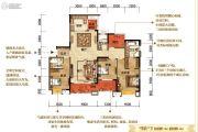 紫御江山3室2厅3卫0平方米户型图