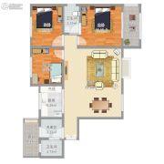 城投姜源城3室1厅2卫90平方米户型图