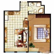 三庆・青年城1室2厅1卫60平方米户型图