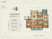 中梁壹号院5室2厅2卫155平方米户型图