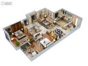 双威理想城2室2厅1卫123平方米户型图