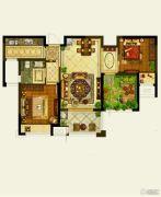 保利公园九里2室2厅1卫88平方米户型图