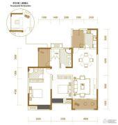 香江华府3室2厅2卫113平方米户型图
