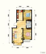 鼎旺90社区2室2厅1卫78平方米户型图