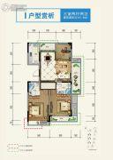 宝业・宜和雅园3室2厅2卫107平方米户型图