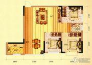 未来城11号3室2厅1卫96平方米户型图