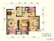 保利中央公园2室1厅1卫0平方米户型图