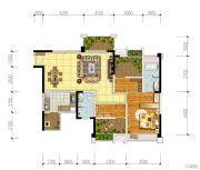 宏创・龙湾半岛3室2厅2卫109平方米户型图