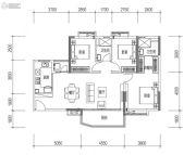 远洋天骄广场3室2厅2卫116平方米户型图