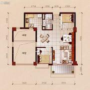 碧兰轩2室2厅1卫79平方米户型图