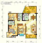四季阳光城2室2厅1卫0平方米户型图