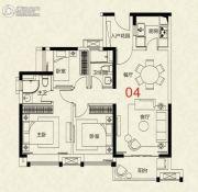 广州绿地城3室2厅2卫94平方米户型图