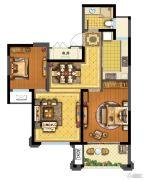 青林湾8期2室2厅1卫85平方米户型图