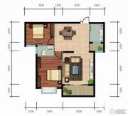 玉龙国际花园2室2厅1卫87平方米户型图