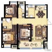 保利海德公馆3室2厅2卫126平方米户型图