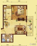 红海湾皇家海岸一期1室2厅1卫0平方米户型图