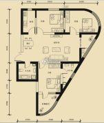 九星国际e世界3室2厅2卫123平方米户型图