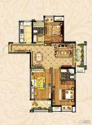 观湖壹号3室2厅2卫128平方米户型图