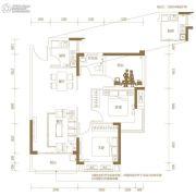 玖颂江湾2室2厅1卫88平方米户型图