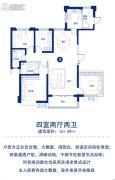 恒大华府4室2厅2卫161平方米户型图