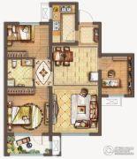 保利中央公园3室2厅1卫89平方米户型图