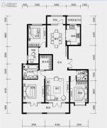 融创裕华壹号4室2厅2卫165平方米户型图