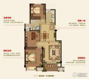 明月湾3室2厅1卫97平方米户型图