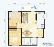 滨海新城2室1厅1卫79平方米户型图