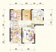 中海国际社区3室2厅2卫113平方米户型图