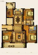 华鸿中央华府4室2厅2卫133平方米户型图