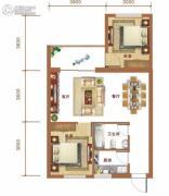 金和大厦2室2厅1卫81平方米户型图