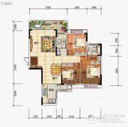元琦林居3室2厅2卫0平方米户型图