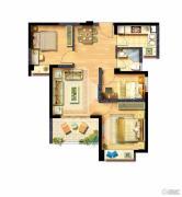 西海岸广场2室2厅1卫78平方米户型图
