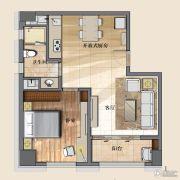 开封国际金融中心1室2厅1卫92平方米户型图
