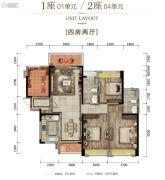富丰君御4室2厅2卫137平方米户型图