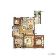 首开铂郡3室2厅2卫162平方米户型图