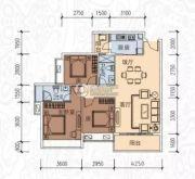 星海湾3室2厅2卫107平方米户型图