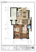 楠溪・云岚2室2厅1卫0平方米户型图