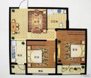 澳海澜庭(现房)2室2厅1卫75平方米户型图