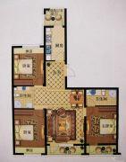澳海澜庭(现房)3室2厅2卫127平方米户型图